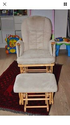 Cossatto Gliding Nursing Rocking Chair With Stool