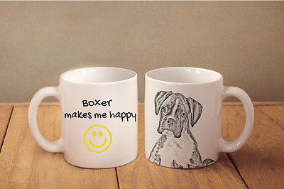 "Boxer - ein Becher ""Makes me happy"" Subli Dog, DE"