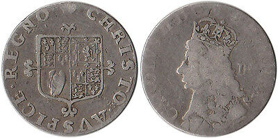 ND (1660-62) Great Britain 4 Pence (Groat) Silver Coin Charles II KM#291 Rare