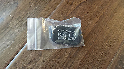 2014 Peanuts Snoopy And Belle In Fashion Promo Promotional Dog Tag