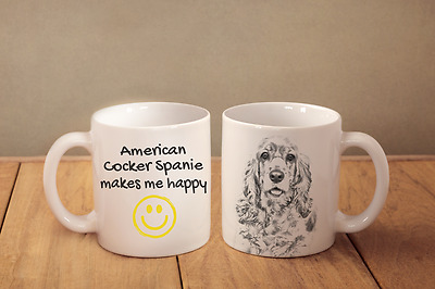 "American Cocker Spaniel - ein Becher ""Makes me happy"" Subli Dog, DE"