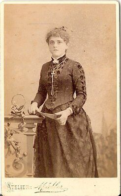 CDV photo Feine Dame - Rochlitz 1880er