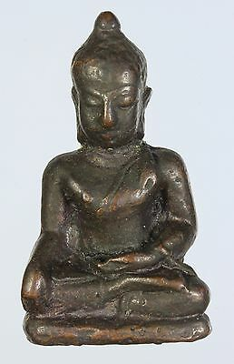 """Rare Brass!""""Old Thai Buddha""""Genuine 100%,Thai Amulet,Protection.Rich and Luck."""
