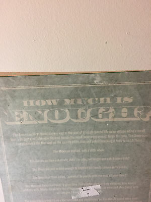 "NEW Jimmy John's Metal Wall Sign ""How Much is Enough"" Rare Collectable"