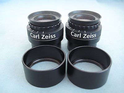 ZEISS OPMI 10x MAGNETIC MOUNT EYEPIECES  WITH MOUNTING ADAPTERS