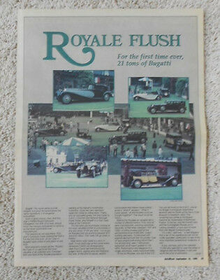 Bugatti Royale Article Autoweek 16 September 1985