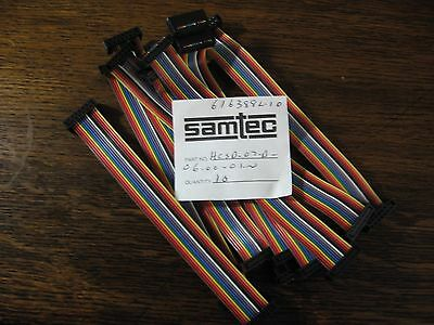 "IDC cable assy 14p 6"" double female ends  Samtec HCSD-07-D-6-01-N .100"" (2.54 mm"
