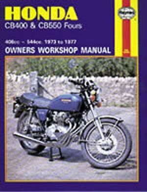 Honda CB400 CB550 Four 1973-1977 Haynes Manual 0262 NEW