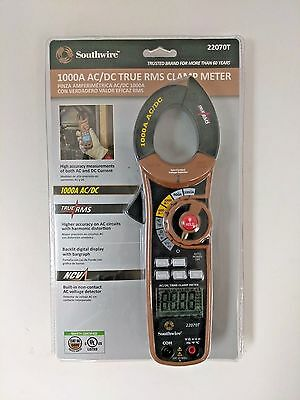 Southwire 22070T True RMS Clamp Meter 600V 1000 Amp CAT III