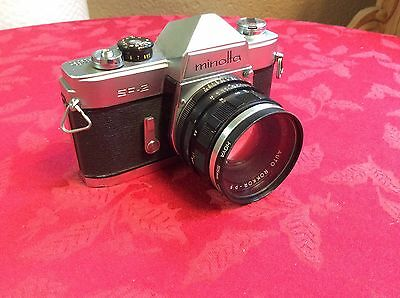 Rare Vintage Minolta SR-2 With Minolta Auto Rokkor-PF 1:1.8 55mm Lens - Tested
