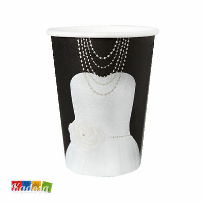 Set 10 Bicchieri di Carta MRS Party Festa - Mr & Mrs Matrimonio Donna Wife Sposa