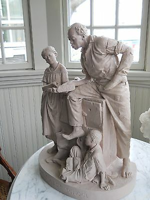 """John Rogers Group  """"uncle Ned's School"""" 1866"""