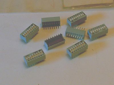 CTS 206-8 Dip Switch 8 Position Slide Light Blue