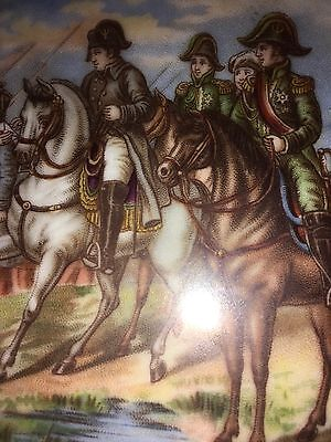 French Military Interest Plate Napoleonic Soldiers On Horseback Carlsbad  Berger