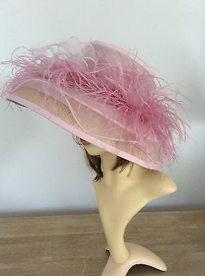 Pale Pink Large Wedding/race Day Hat
