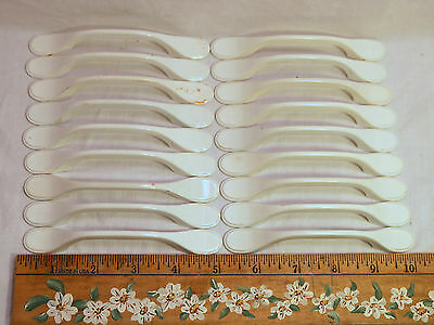 LOT 18 Salvage Vintage Kitchen Drawer & Cabinet White Handles / Pulls