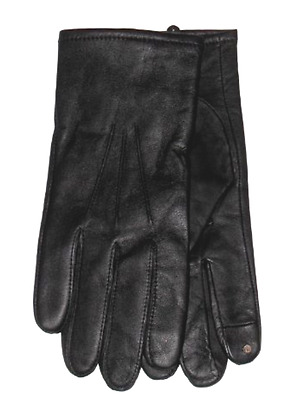 $136 Club Room Men's Black Leather Cashmere Casual Dress Tech Gloves Size Xl