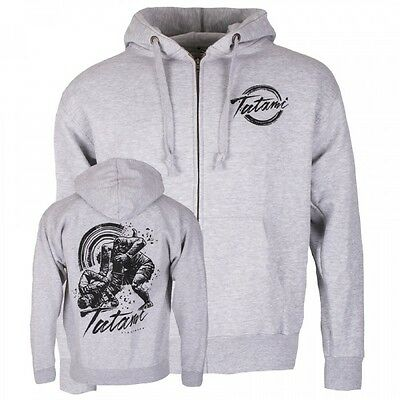 NEW! Tatami Grapplers Collective Triangle Zip Up Grey Hoodie BJJ No Gi Casual