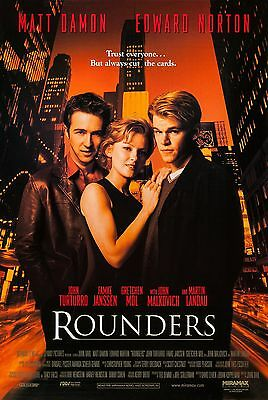 Rounders (1998) Original Movie Poster  -  Rolled