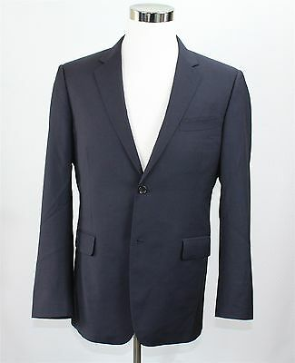 Gucci Men's Jacket Blazer 42R Navy Blue 100% Wool Made in Italy