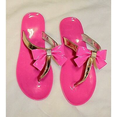 Party PINK & Gold thing bow sandals girls M, 13/1