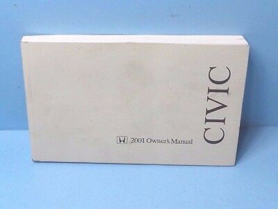 01 2001 honda civic sedan owners manual 10 31 picclick rh picclick com 2001 honda civic service manual 2001 honda civic owner's manual