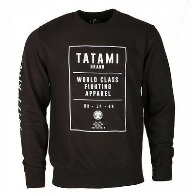 Tatami Brand Sweat Shirt Black Top BJJ Brazilian Jiu Jitsu Casual MMA Grappling