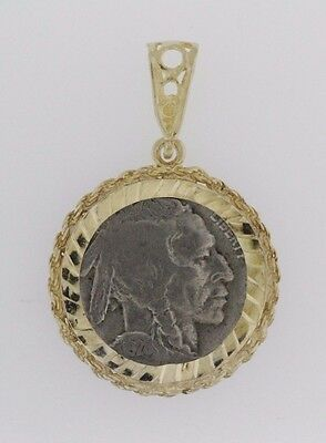 Gold Plate Buffalo Nickel Arrowhead Necklace SKU #80240