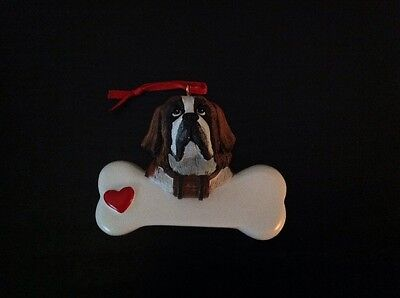 St. Bernard Personalize Christmas Ornament