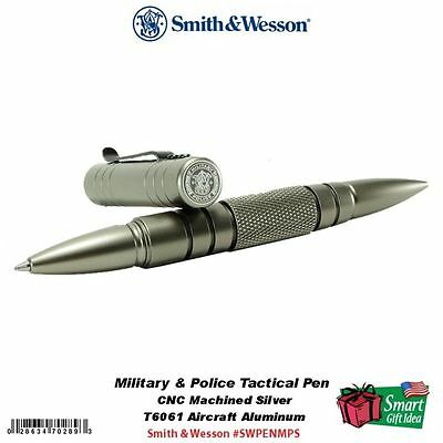 Smith & Wesson M&P Tactical Pen, Silver, CNC Machined Aluminum #SWPENMPS