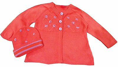Pumpkin Patch EUC Cardigan Cardi Sz 6-12 Hat Small