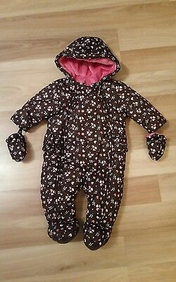 Baby Girls Floral Snowsuit age 3-6 months