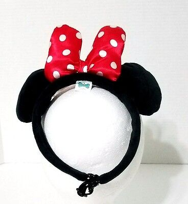Disney Parks Minnie Mouse Plush Pet Ears Headband for Pets Dogs/Cats  One Size