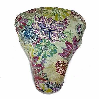 Custom Puch Maxi moped seat stock saddle floral print plus mounting hardware