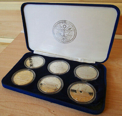 1995 Marshall Islands JFK Kennedy Commemorative $5 Coin Set of 6 With Case