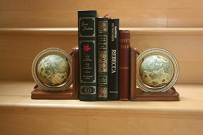 Spinning Globe Antique looking Bookends