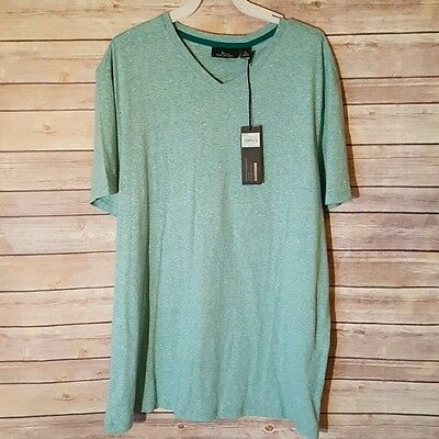 NWT Mens Marc Anthony Slim Fit Everglade Green V Neck Size XL $32 New