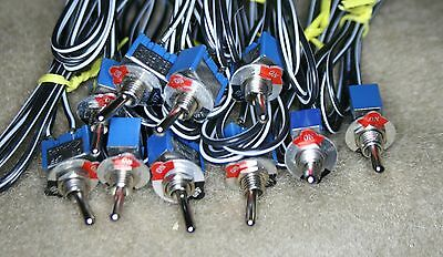 Toggle Switches-Spst-Miniature-New-Lot Of 10