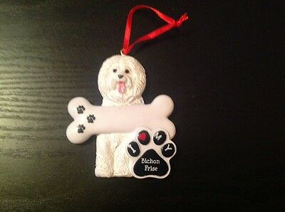 Bichon Frise Personalized Christmas Ornaments