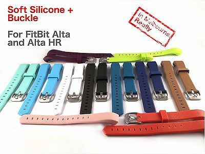 Silicone Buckle Band for FitBit Alta HR - Replacement for Fit Bit Pedometer