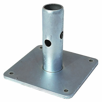 """New Base Plate 5""""x5"""" Square - Quality Equipment for Scaffolding & Frame Scaffold"""