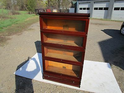Antique Globe Wernicke C-1910 Mahogany 4 Stack Original Barrister Bookcase
