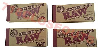 RAW Rolling Filter Tips, Spacer (4 Booklets of 50) Extra Wide Size, 200 Sheets