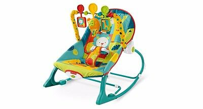 Baby Bouncer Seat Fisher Price Infant Toddler Bounce Rocker Portable Safari New