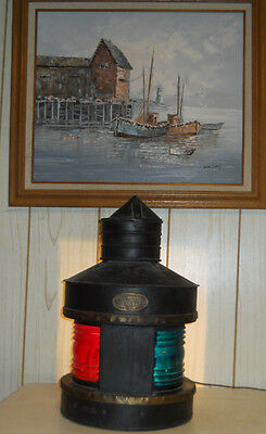 Antique Nautical Wm Porter & Sons Ny Boat Ship Railroad Oil Lantern Maritime
