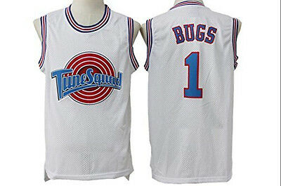 Space Jam BUGS BUNNY 1# Jersey Basketball Tune Squad Looney All Stitched