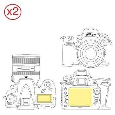 Martin Fields Overlay Plus Screen Protector Nikon D610 Twin Pack - Includes Top