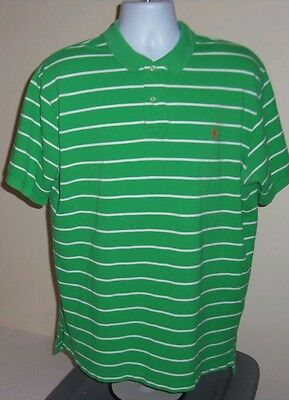 Men's Polo Ralph Lauren shirt size XL cotton green short sleeve stripes