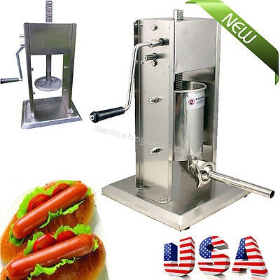 US Sausage Stuffer Vertical Stainless Steel 5L 11 Pound Meat Filler High Quality