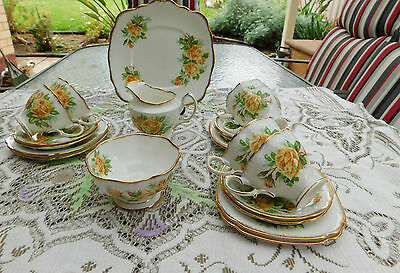 Vintage Royal Albert 21 Piece Tea Set - Tea Rose